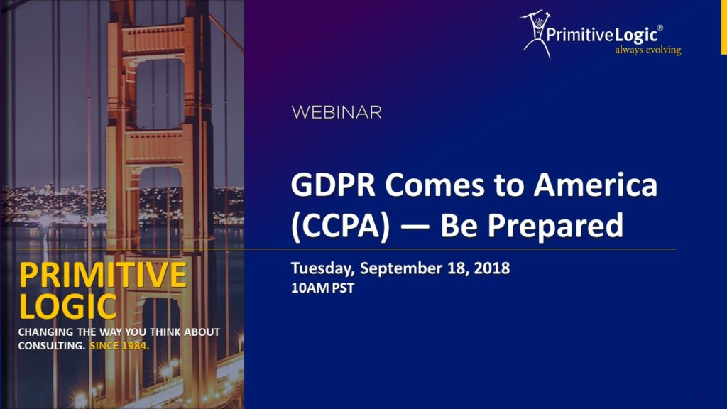 Preparing for CCPA - 3 Lessons from the GDPR Experience