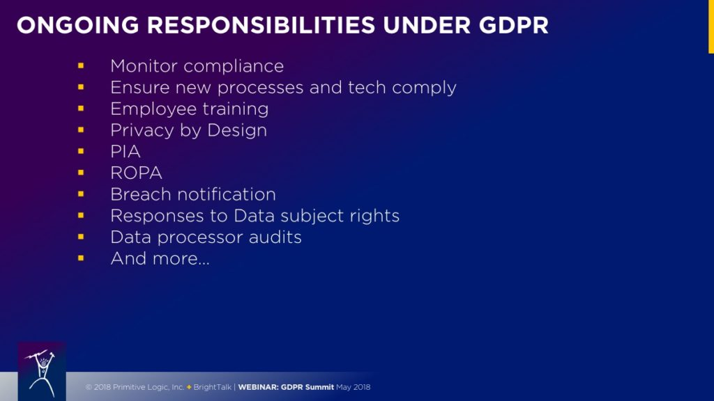 Ongoing Responsibilities Under GDPR
