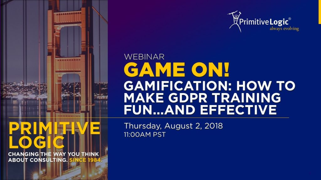 Webinar: Gamification: How to Make GPDR Training Fun ... and Effective